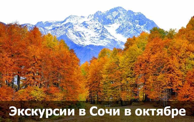 Экскурсии в Сочи октябре